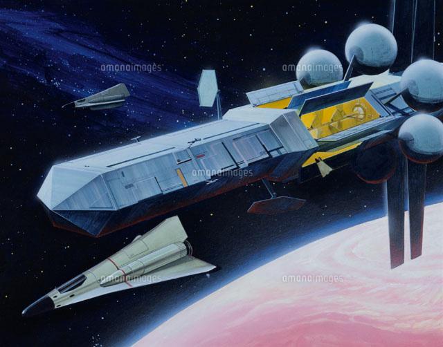 宇宙船とロケット イラスト01754008473の写真素材イラスト素材