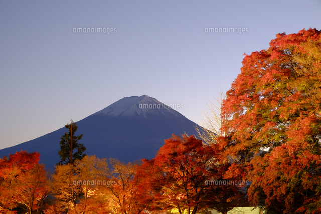 河口湖と富士山