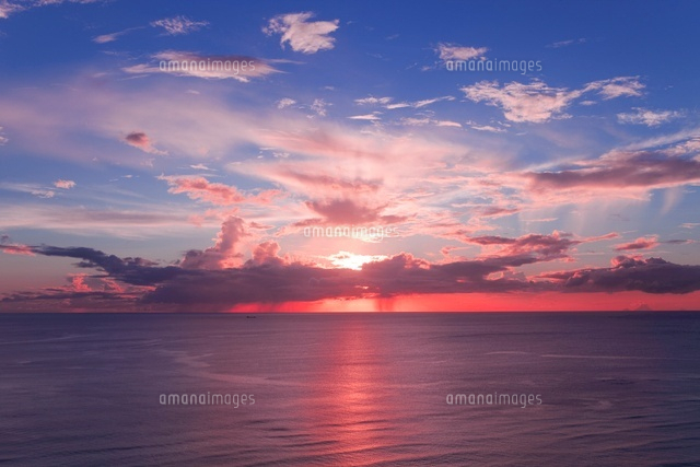 大浜海岸の夕日