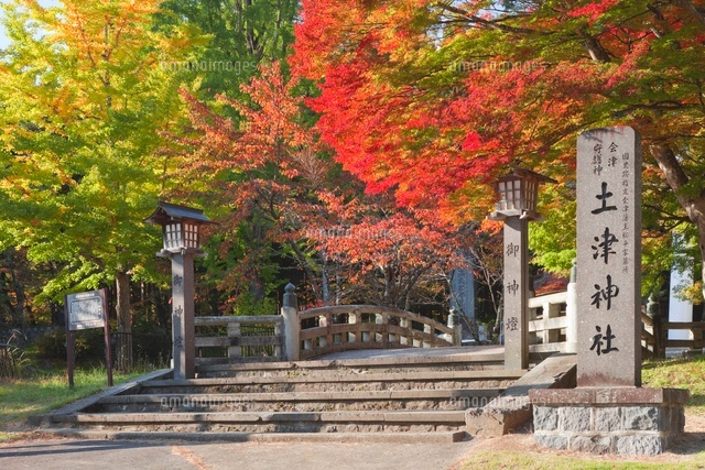 紅葉の土津神社