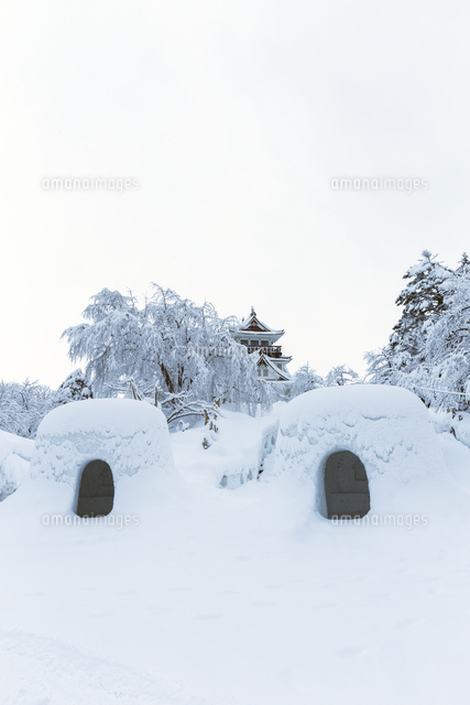 横手公園の雪景色