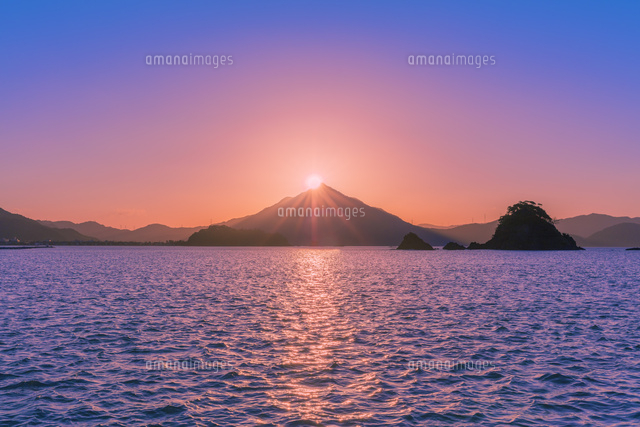 青葉山の夕日
