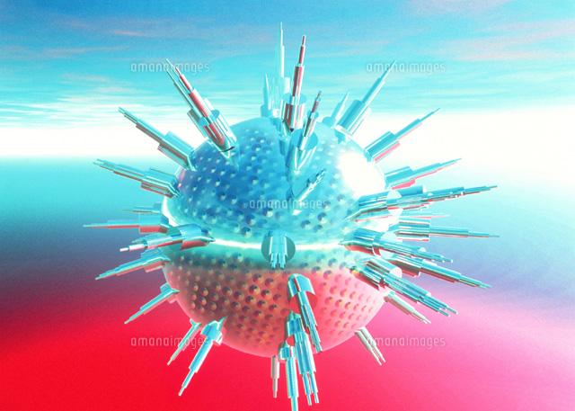 ウィルスの攻撃01809011073の写真素材イラスト素材アマナイメージズ