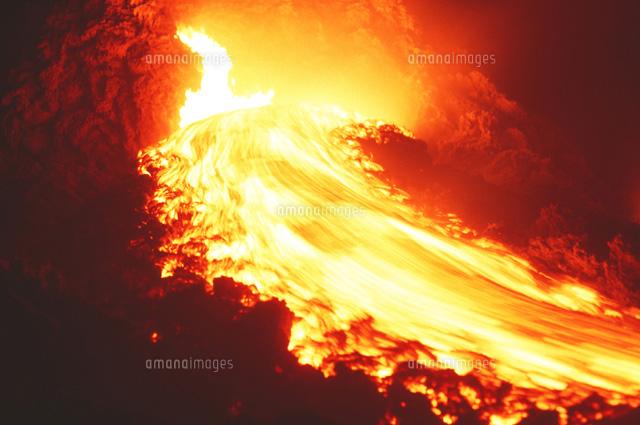 溶岩流01809011954の写真素材イラスト素材アマナイメージズ