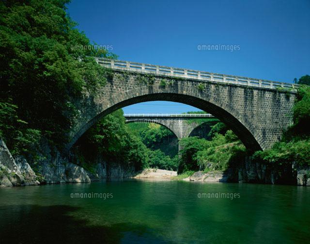 夏の出合橋 轟橋 清川村 大分県[...