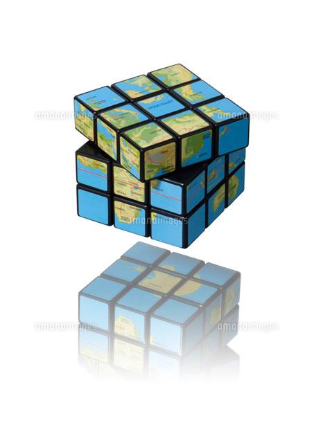 ルービックキューブ地球儀02183010204の写真素材イラスト素材