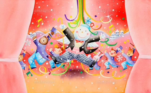雪だるまのミュージカル02237001602の写真素材イラスト素材アマナ