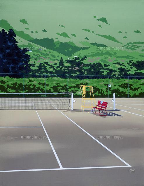 テニスコート02237009709の写真素材イラスト素材アマナイメージズ