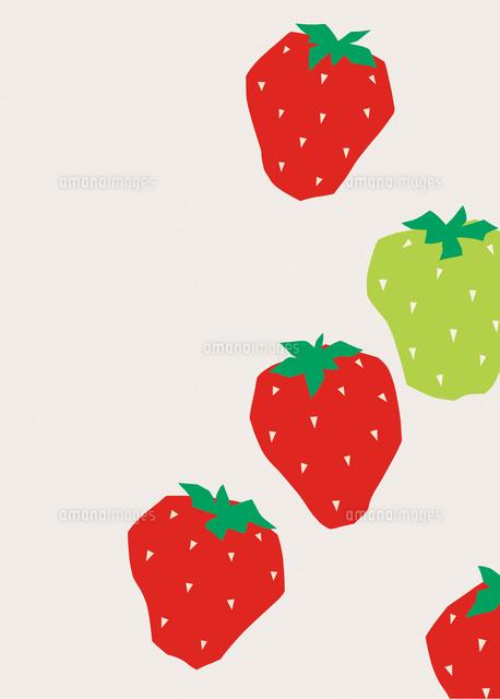 かわいい赤いイチゴと青いイチゴ の写真素材 イラスト素材 アマナイメージズ