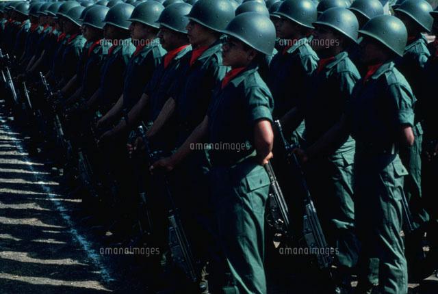 整列した軍隊エルサルバドル02265037061の写真素材イラスト素材