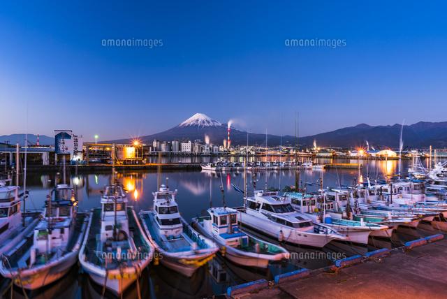 田子の浦港と富士山 夜景[023280...