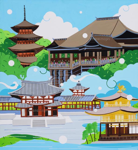 世界遺産 古都京都02422000068の写真素材イラスト素材