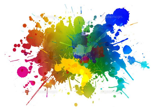 カラフルな絵具のアブストラクト02427000165の写真素材イラスト素材