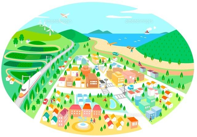 街イラスト02463000887の写真素材イラスト素材アマナイメージズ