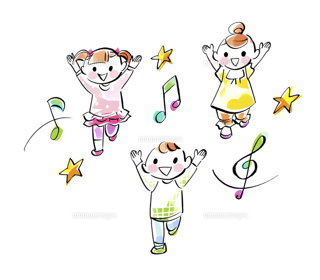 子供達のリトミックダンス02463001736の写真素材イラスト素材