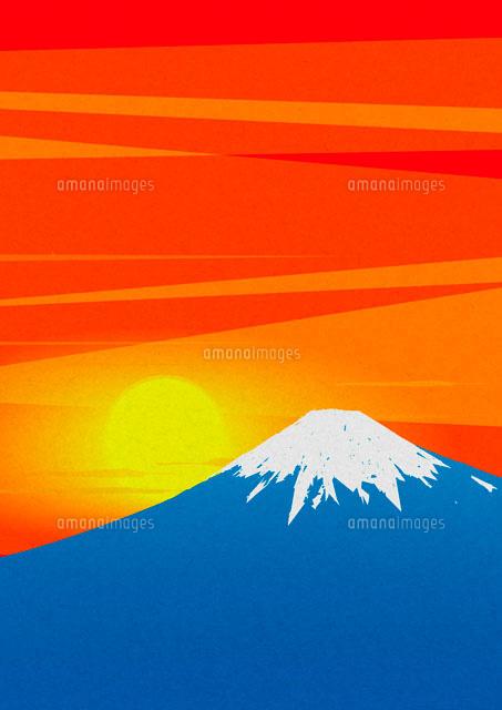 富士山の初日の出 02480000044 の写真素材 イラスト素材 アマナ