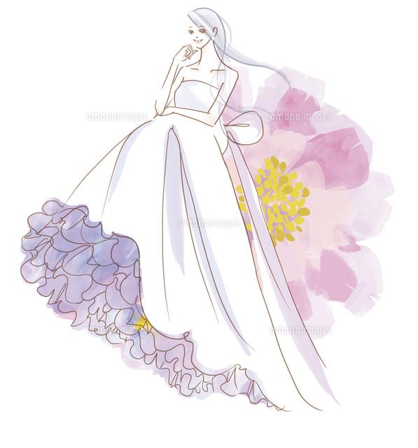 ドレスを着る女性 の写真素材 イラスト素材 アマナイメージズ