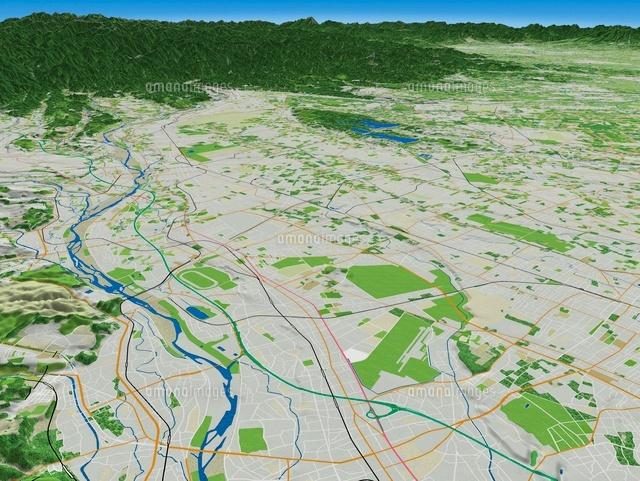 多摩川による武蔵野台地の段丘[02614000187]の写真素材・イラスト素材 ...