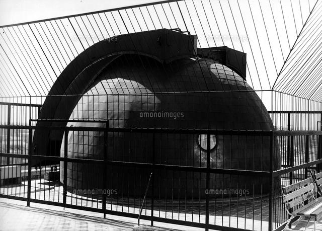 五島プラネタリウムおよび東急文化会館屋上のドーム