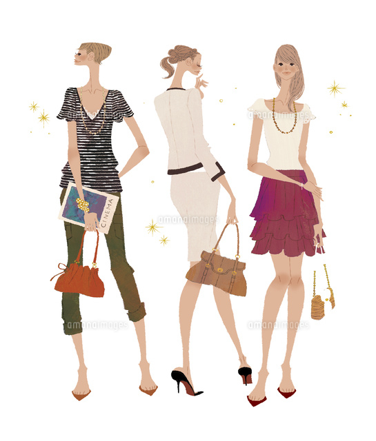 色々なファッションを着こなしている女性たち