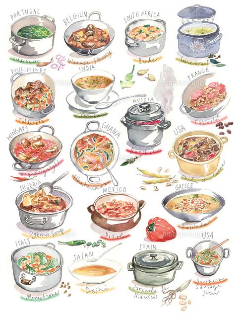 色々な国の料理とスープ02807000016の写真素材イラスト素材アマナ