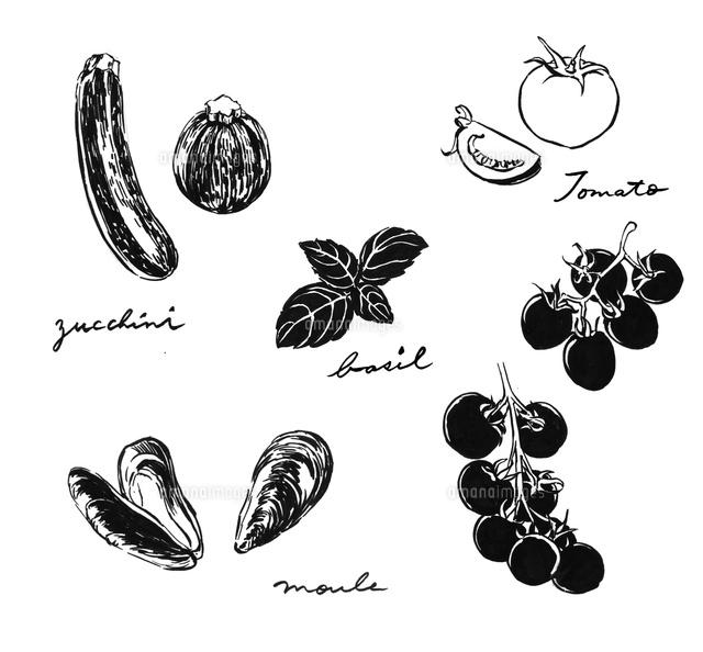 イタリアンの食材02837000001の写真素材イラスト素材アマナイメージズ