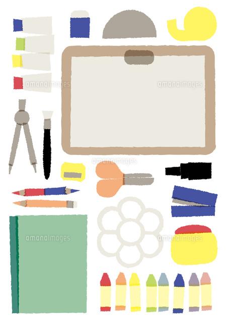 絵の具やはさみなどの文房具 02837000770 の写真素材 イラスト素材