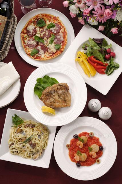 イタリア料理20013014660の写真素材イラスト素材アマナイメージズ