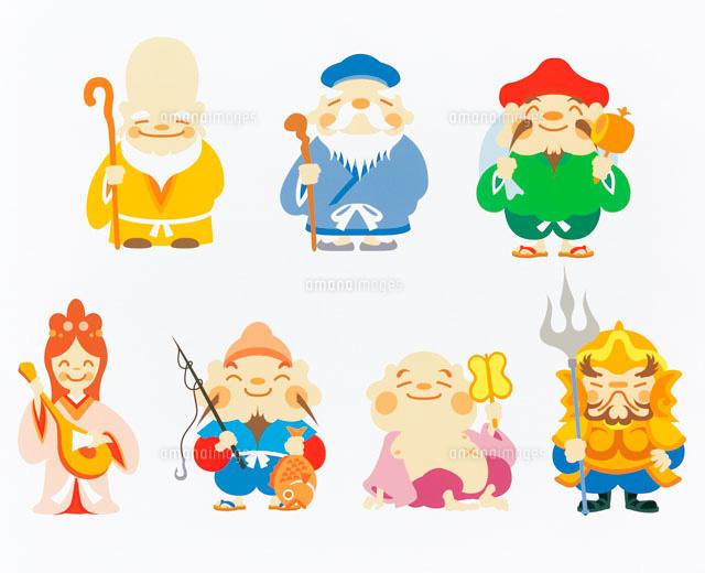 七福神のイラスト20014004849の写真素材イラスト素材アマナイメージズ
