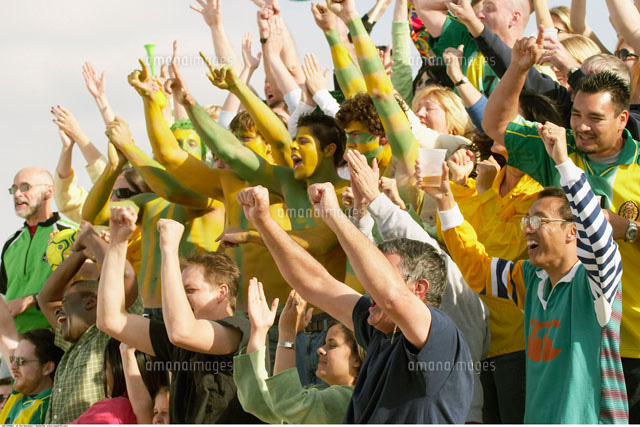 Crowd Cheering at Sporting Event