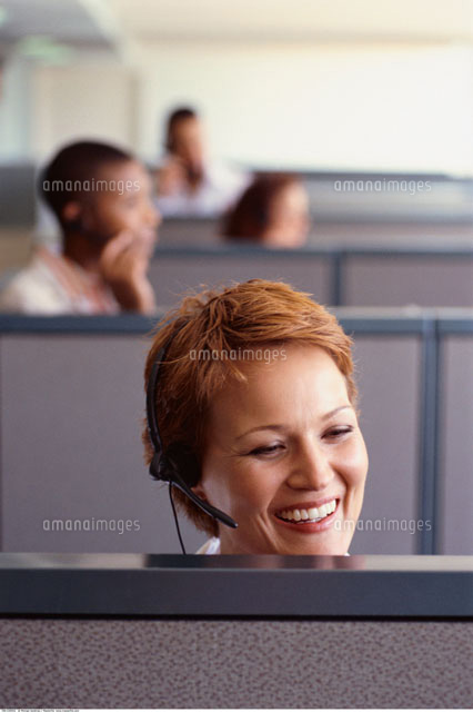 people with headsets in office 20025162862 写真素材 ストック