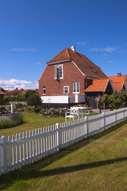 house with white picket fence kerteminde fyn island denmark
