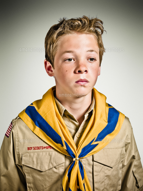 portrait of boy scout 20025322585 写真素材 ストックフォト 画像