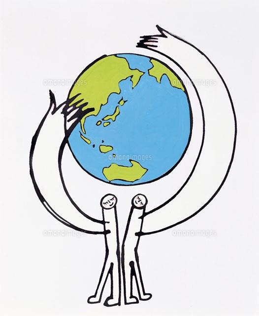 地球を支える人たち20037000369の写真素材イラスト素材アマナ