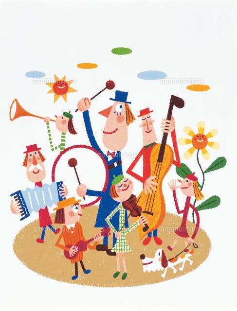 演奏するオーケストラ20037000566の写真素材イラスト素材アマナ