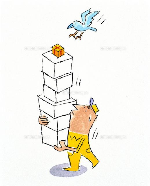 荷物を届ける男性[20037001067]...
