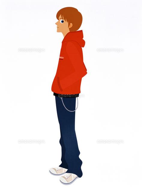 パーカーを着た男性[20037001128]| 写真素材・ストックフォト・画像・イラスト素材|アマナイメージズ