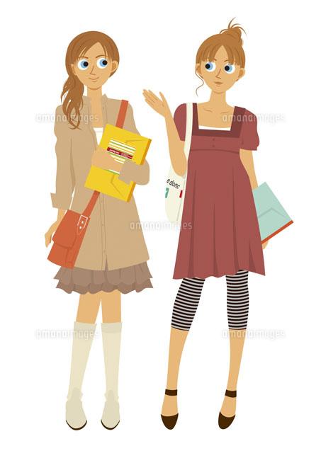 2人の女子大学生20037003108の写真素材イラスト素材アマナイメージズ