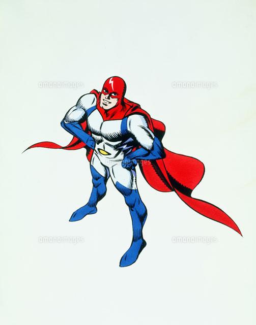 男性ヒーローキャラクターイメージ20037003740の写真素材イラスト