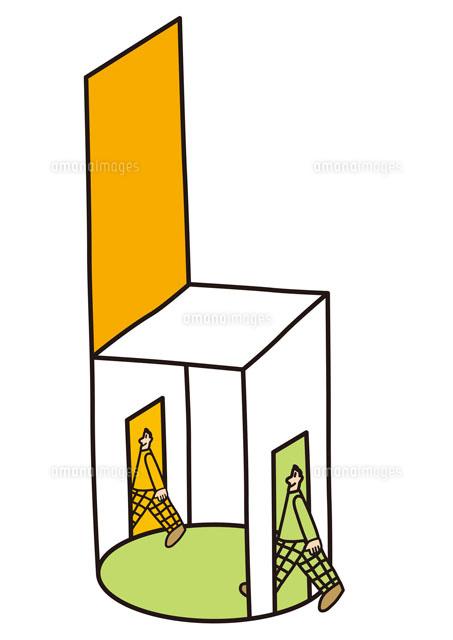 ボックスを出入りする男性[20037...