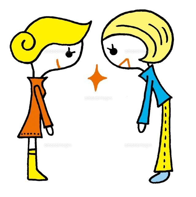 挨拶をする女の子2人20037006572の写真素材イラスト素材アマナ