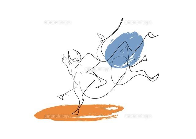躍動感ある牛のイメージ20037006858の写真素材イラスト素材アマナ