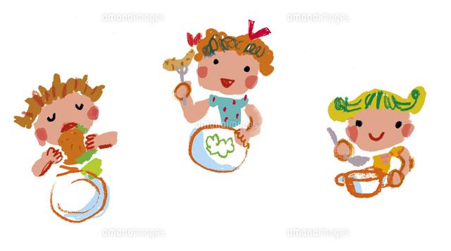 食事をする子供たち20037007595の写真素材イラスト素材アマナ