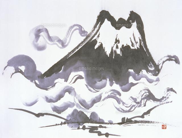 山 水墨画20037008693の写真素材イラスト素材アマナイメージズ