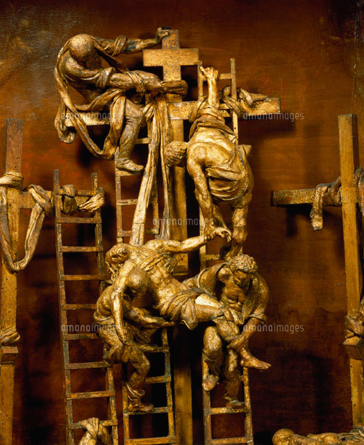 the descent from the cross by jacopo sansovino rome ital