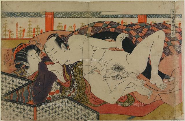 Woodblock print; Isoda Koryusa...