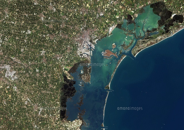 Venice, Italy, True Colour Satellite Image