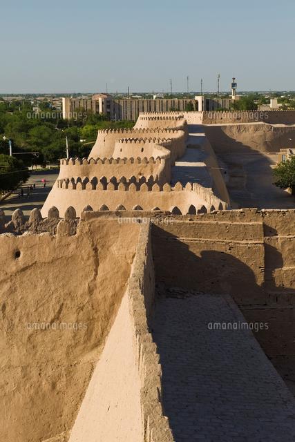 uzbekistan khiva old wall 20053010768 写真素材 ストックフォト