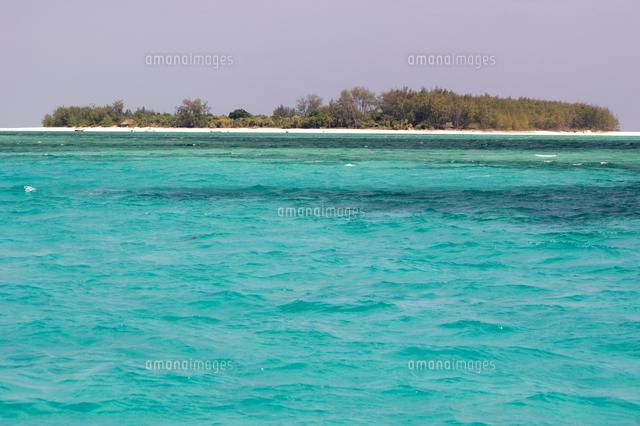clear blue sea and mnemba island near zanzibar tanzania east