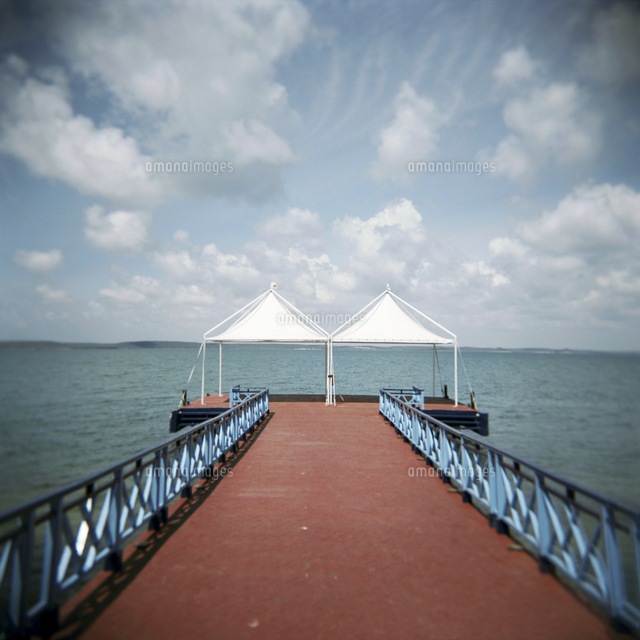 red pier and the caribbean sea cienfuegos cuba west indies